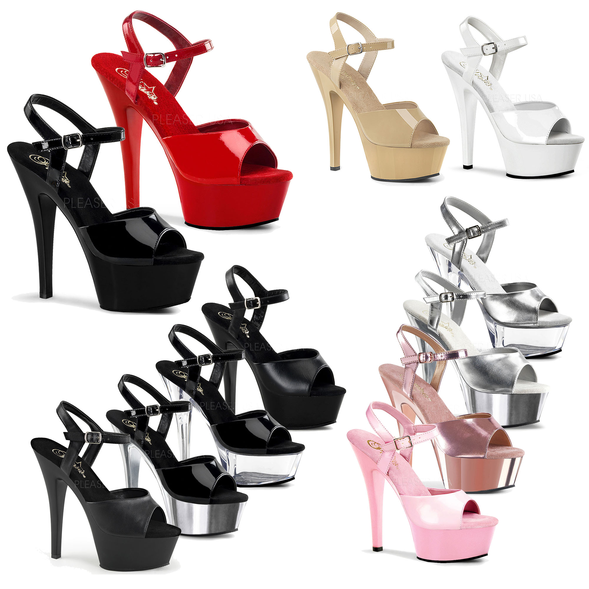 eb2370decb86 Details about PLEASER - Kiss-209 Sexy Ankle Strap Platform Sandal Shoes